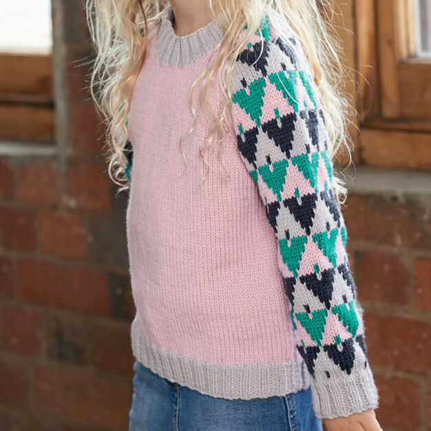 Red Heart Kid's Graphic Pullover, 2 yrs in color