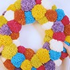 Make a Pompom Wreath For Your Home | Blog