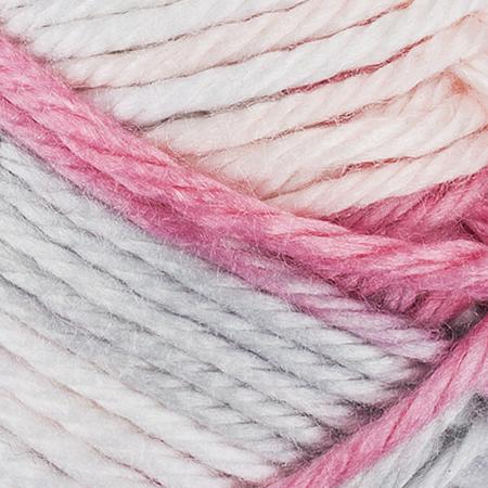 E857 Red Heart Soft Essentials Stripe yarn in 7950 Pixie Stripe