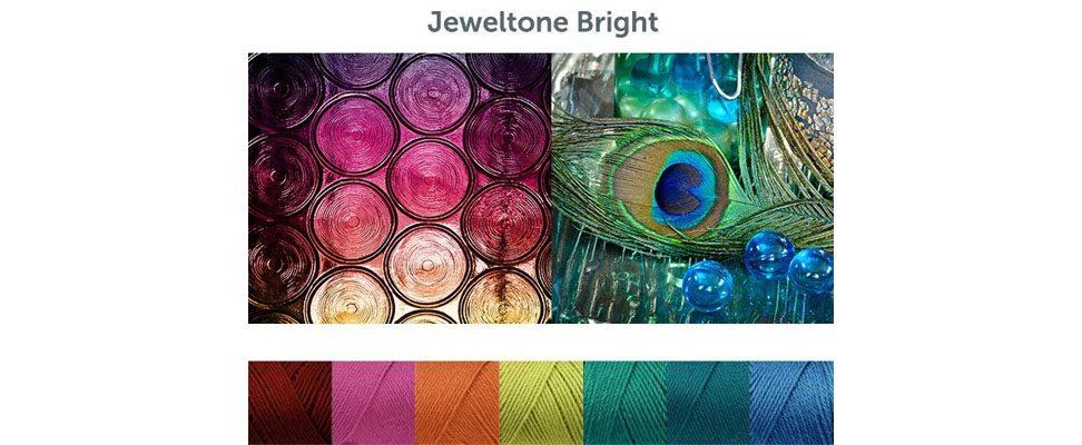 Jeweltone Brights Crochet Mood Scarf in Caron Simply Soft yarn