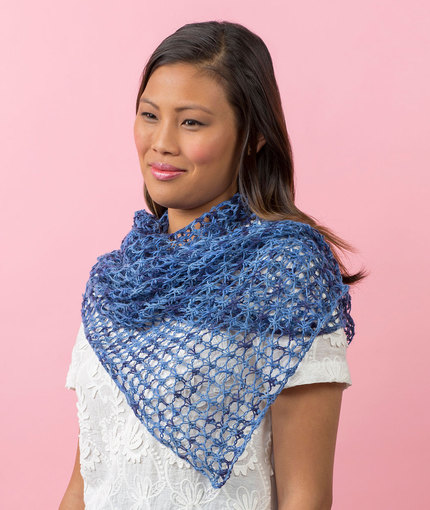 Laid-Back Shawl Free Knitting Pattern LW5209