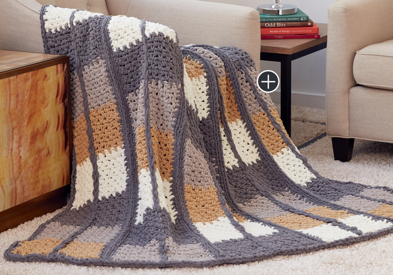 Intermediate Keep In Check Crochet Blanket