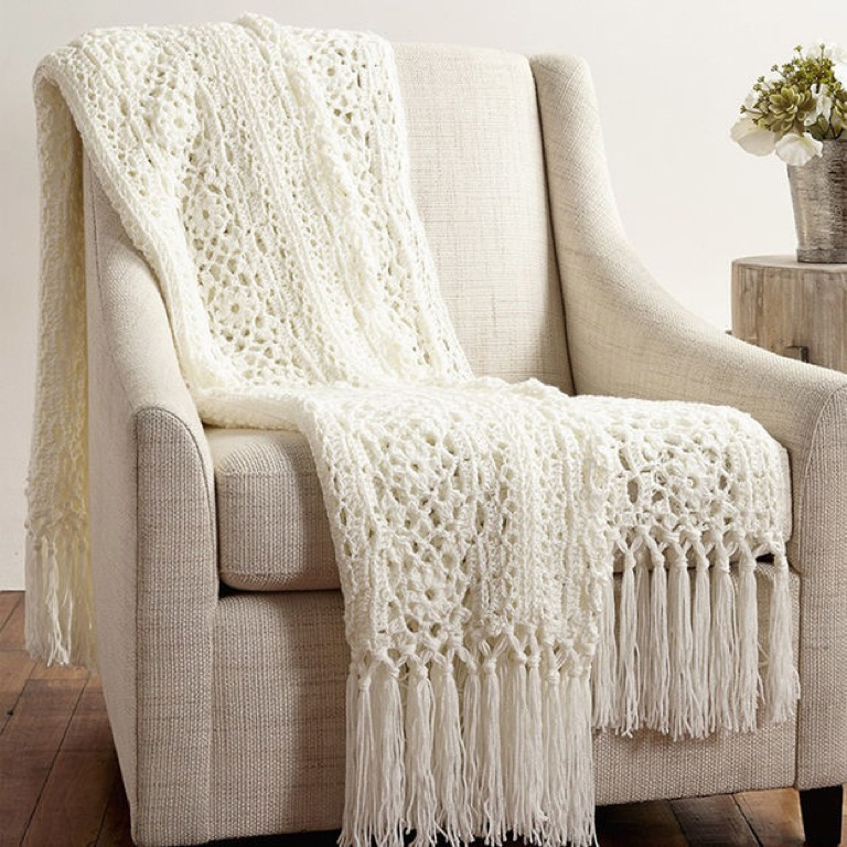 Easy Crochet Irish Lace Blanket