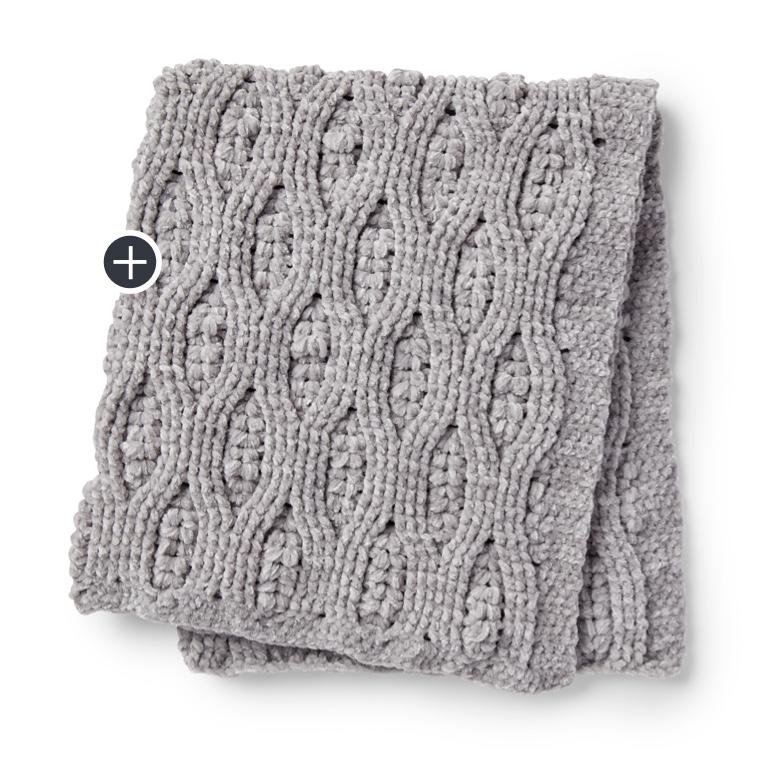 Velvety Filet Crochet Blanket