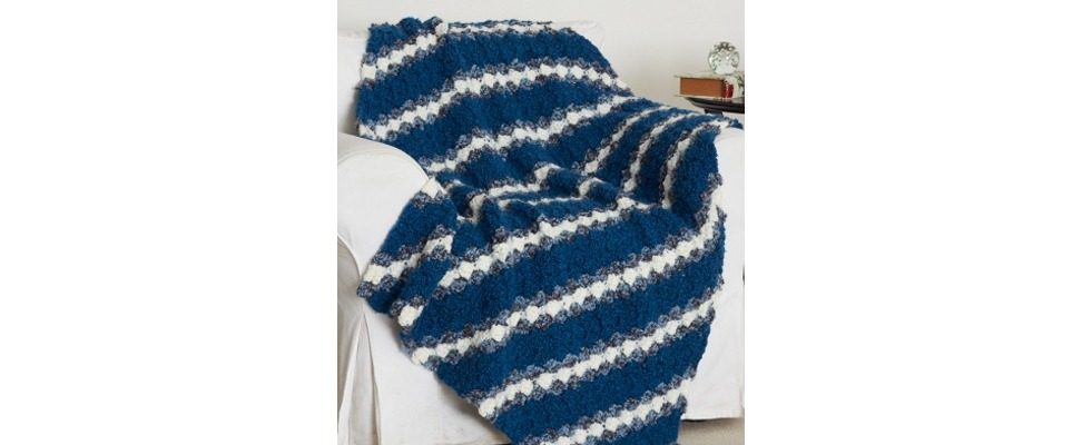 Country Fresh Blanket in Patons Decor yarn