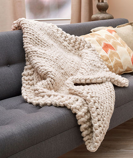 Wonderful Big Stitch Throw Free Knitting Pattern LW5365