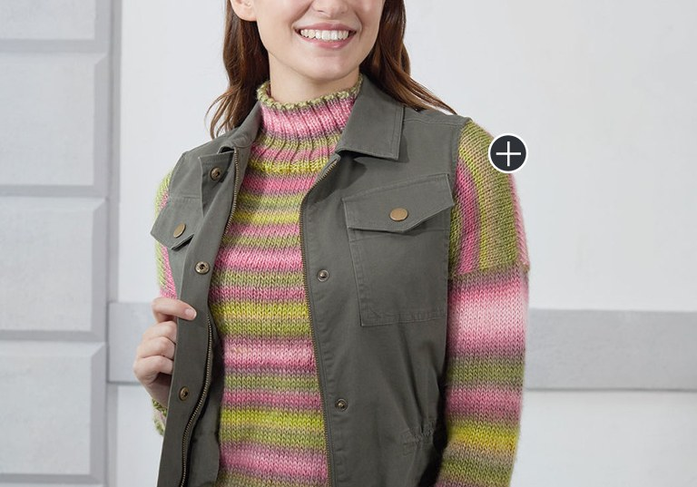 Easy Play Misty Knit Stripe Pullover