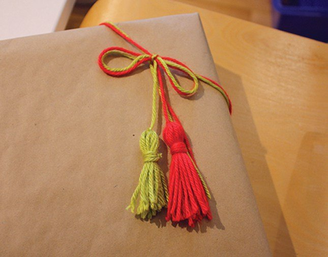 Finished Tassel Gift Topper