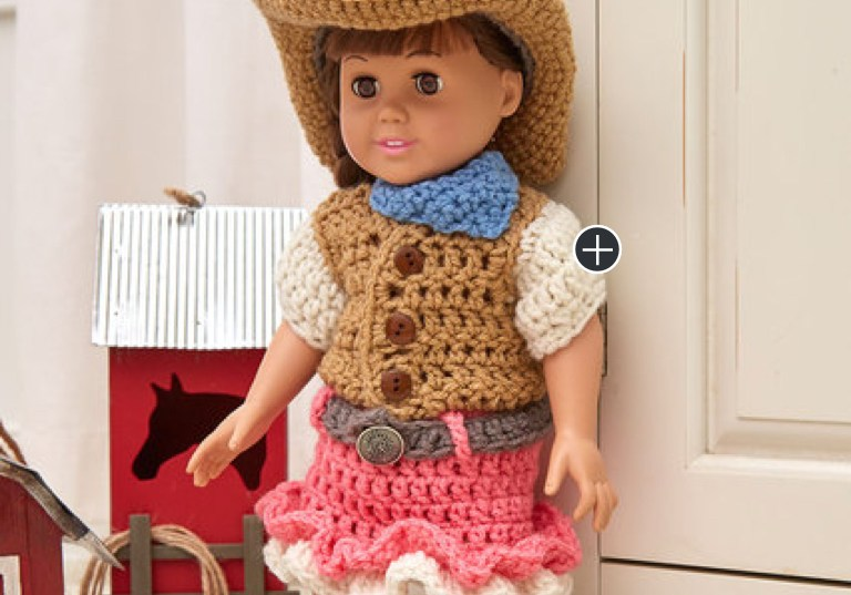 Easy Crochet Dollie Cowgirl Partner
