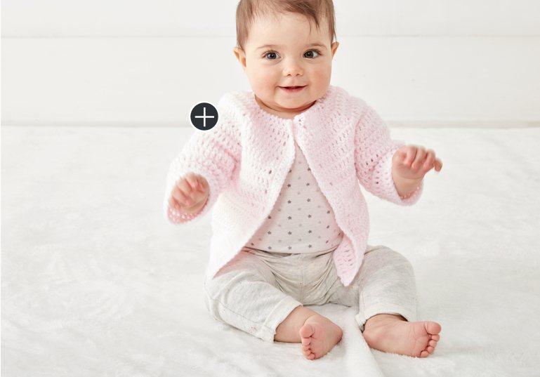 Easy Crochet Baby Jacket Set