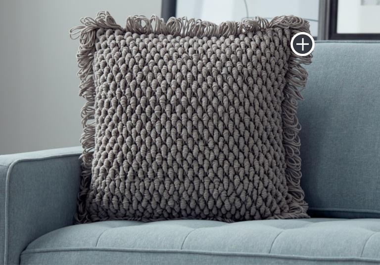 Intermediate Bullion Loop Crochet Pillow