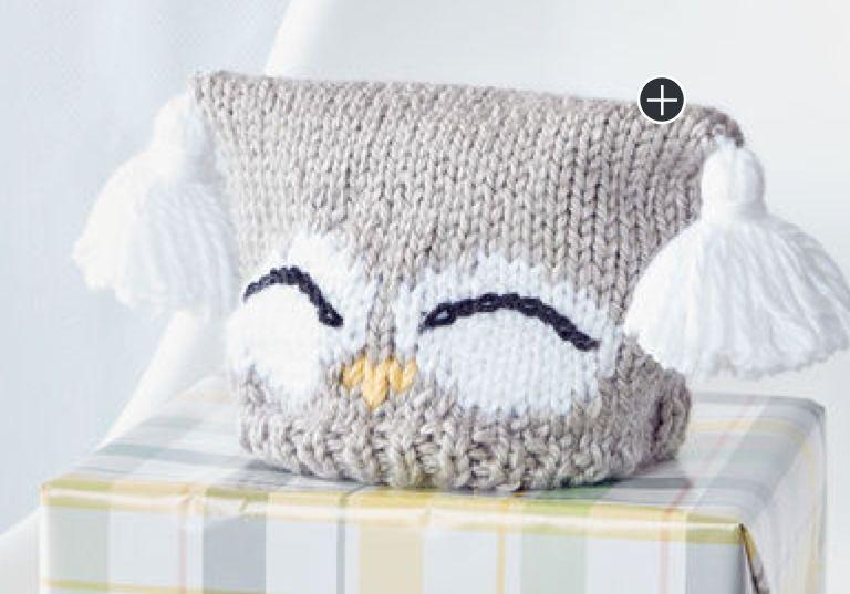 Intermediate I'm A Hoot! Knit Hat