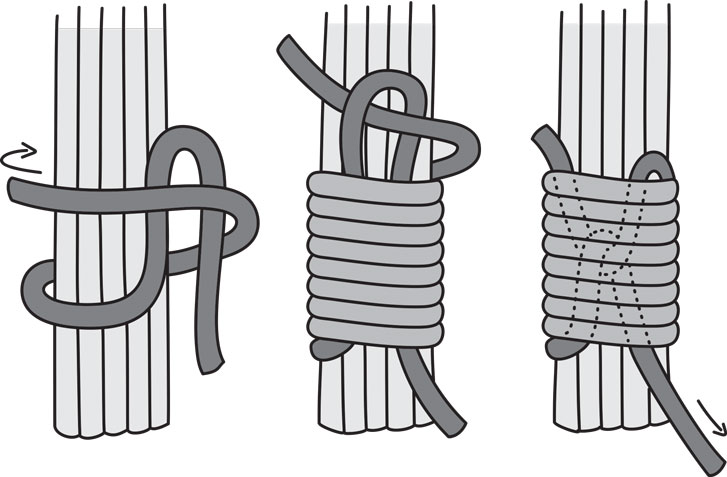 How To Make 7 Common Macrame Knots and Patterns Diagonal Half Hitch