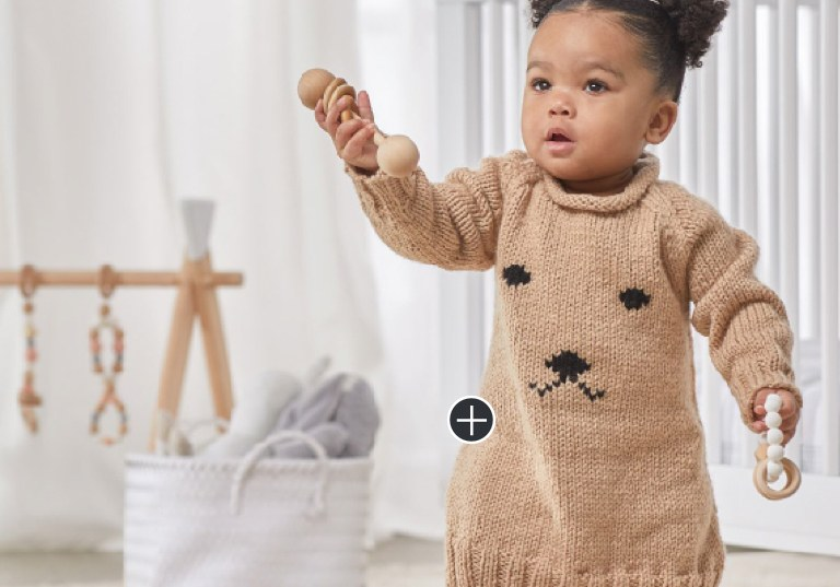 Easy Knit Huggable Puppy Baby Dress