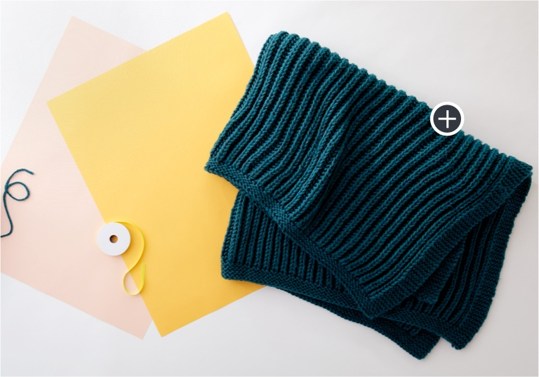 Easy Squishy Fisherman's Rib Knit Blanket