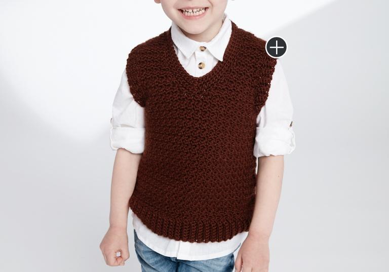 Easy Crochet V-Neck Vest