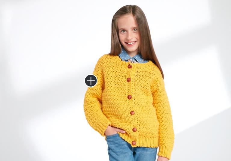 Easy Crochet Crew Neck Cardigan