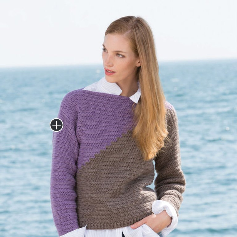 Easy Nicole's Slanted and Enchanted Crochet Sweater