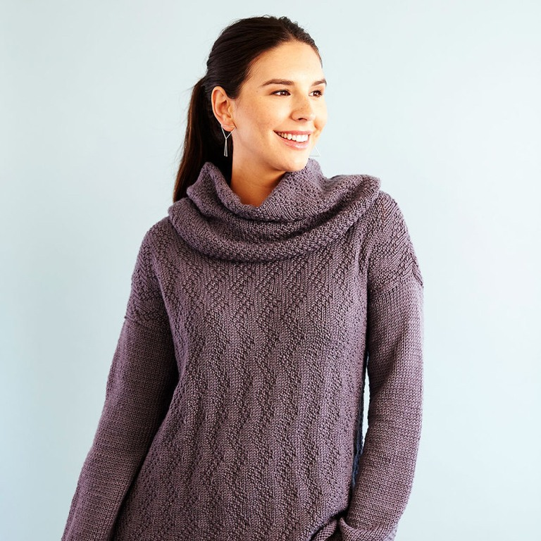 Easy Feather Chic Knit Sweater & Removable Cowl