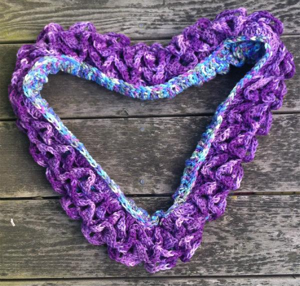 crocodile stitch crochet scarf