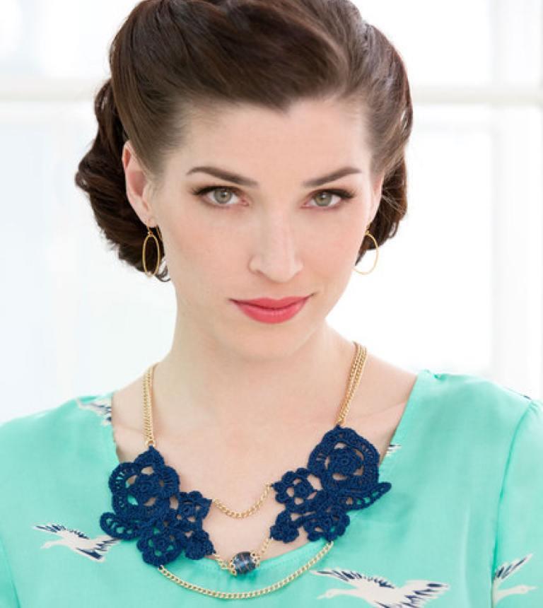 Intermediate Statement Crochet Necklace