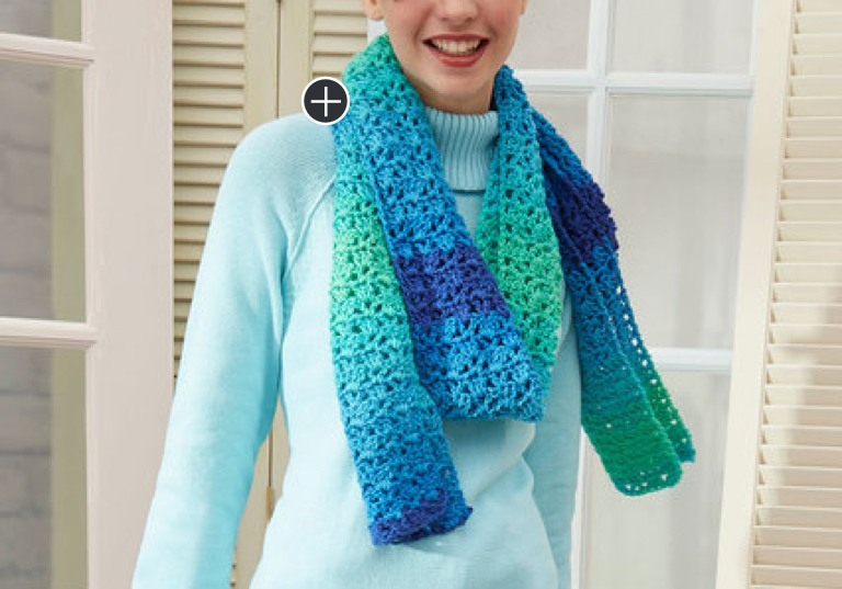 Easy Crochet Jazzy Striping Scarf