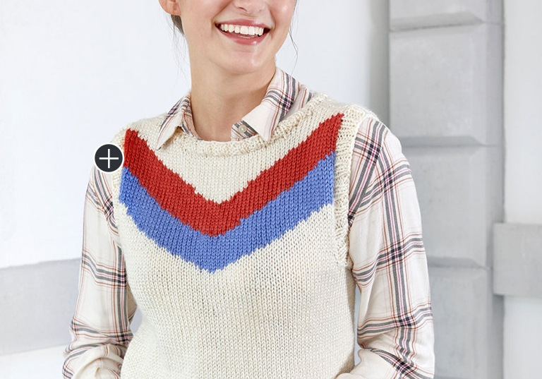 Intermediate Knit Chevron Duo Vest