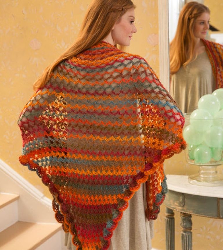 Intermediate Summer of Love Crochet Shawl