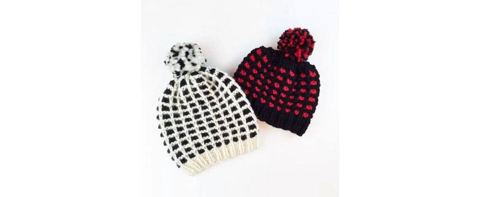 Must Have Plaid Hat in Patons Classic Wool Roving yarn