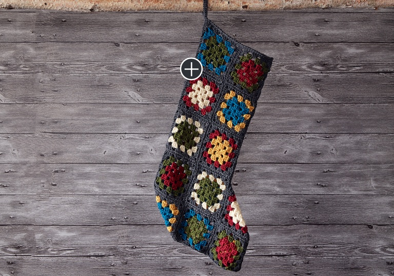 Easy Crochet Granny Square Stocking