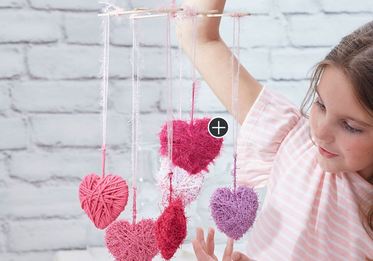 Beginner Wrapped Hearts Mobile