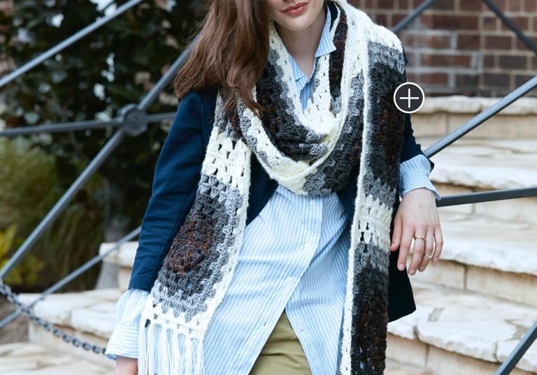 Easy Super Granny Crochet Scarf