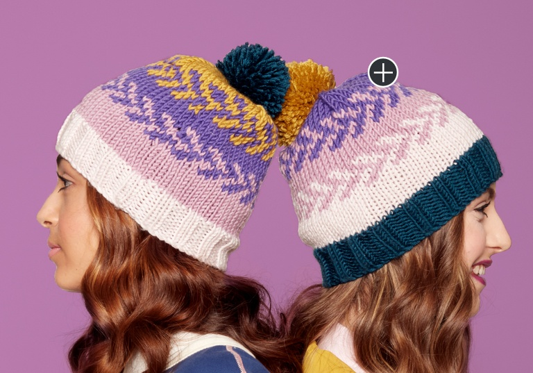 Intermediate Fair Isle Knit Hat