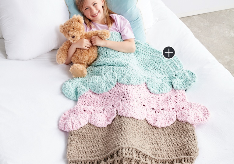 Intermediate Double Scoop Crochet Snuggle Sack