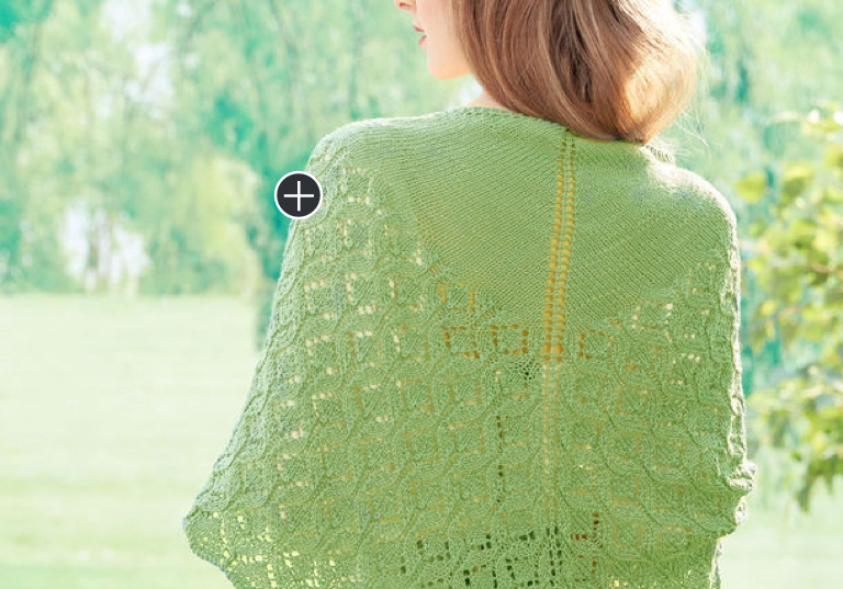 Intermediate Pastoral Lace Knit Shawl