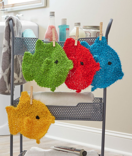 School of Fish Scrubbies Free Knitting Pattern LW5412