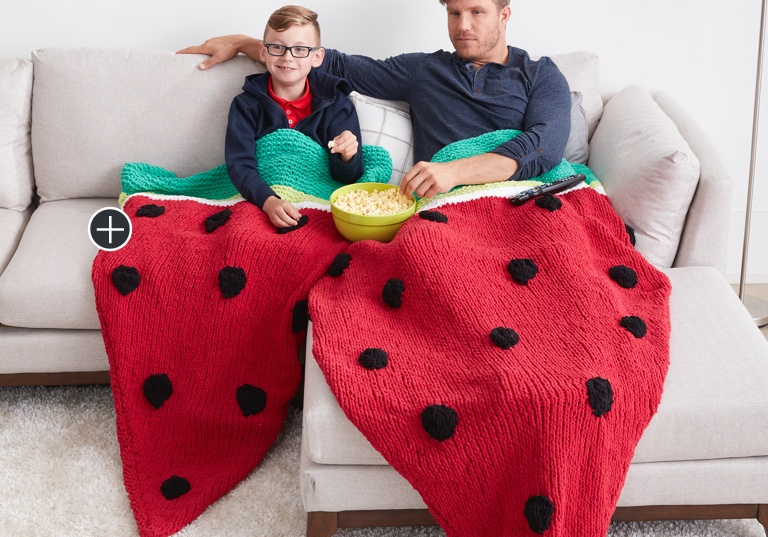 Easy Knit Watermelon Wedge Snuggle Sack
