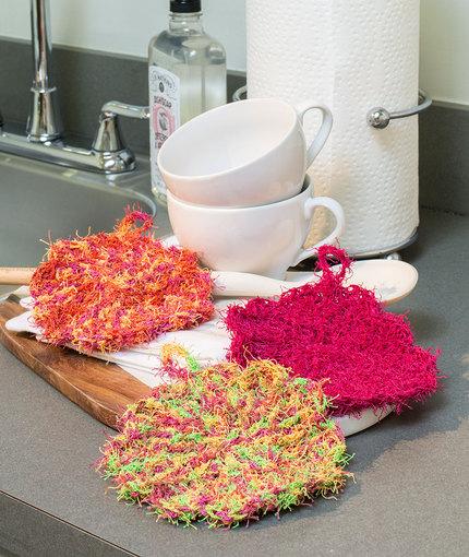 Scalloped Edge Scrubby Free Crochet Pattern LW5230