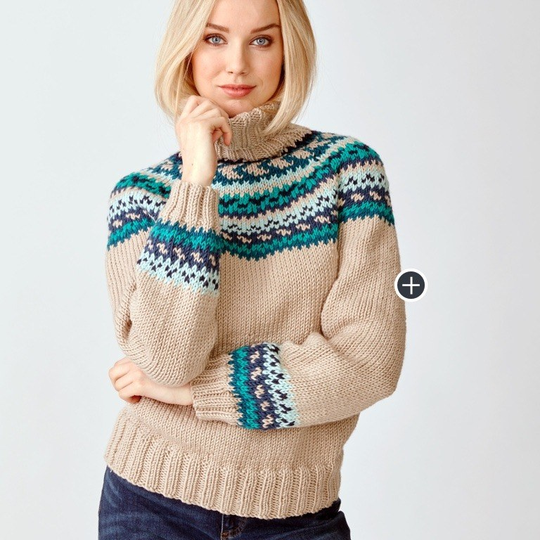 Yoke Sweaters Lookbook Pattern Collection Yarnspirations
