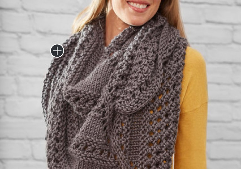 Easy Textured Knit Triangle Shawl