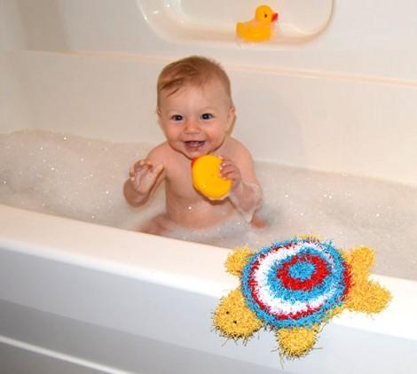 Turtle Bath Scrubby