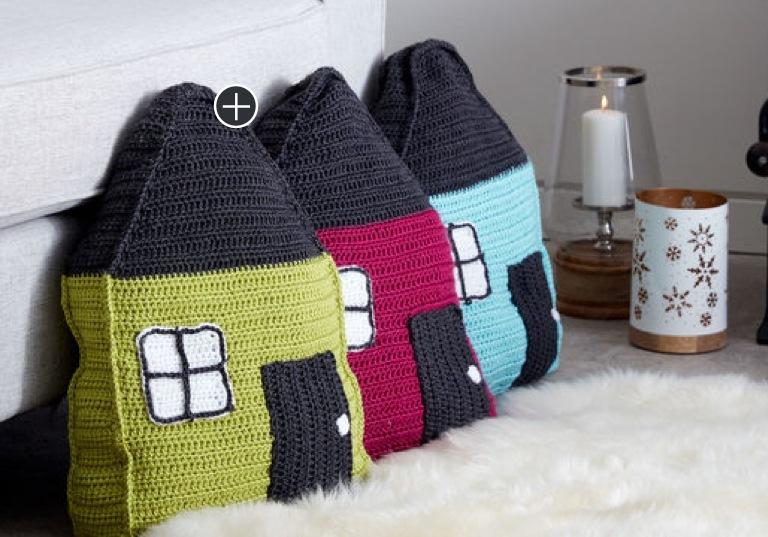 Easy Cozy Cottage Crochet Pillow
