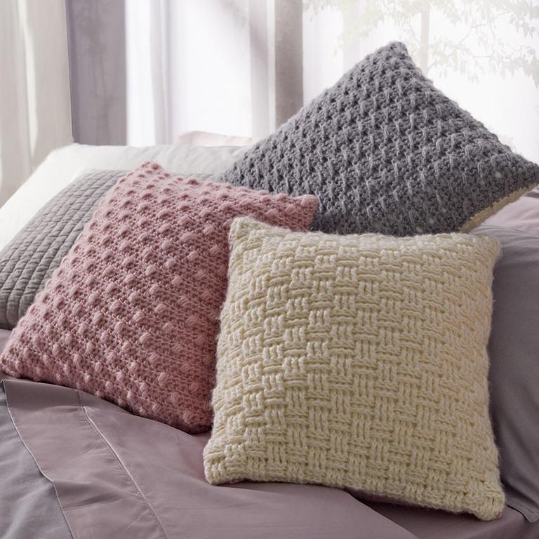 Intermediate Luxe Crochet Pillow Trio