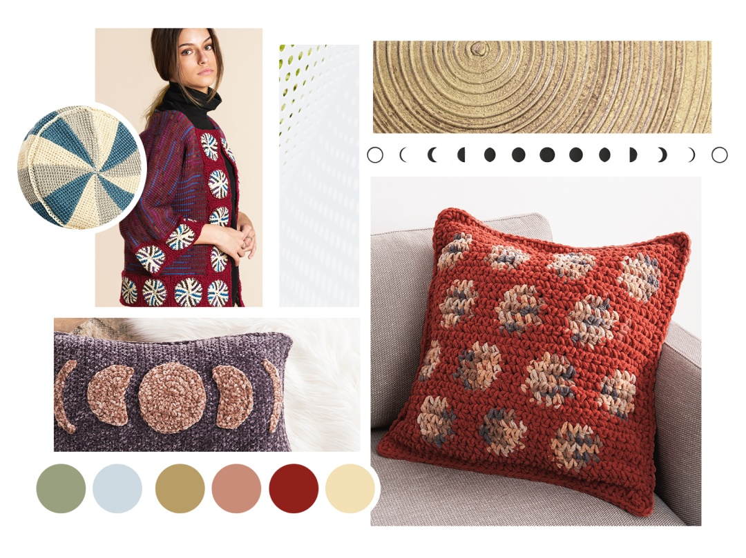 power of circles picture collage (rugs, jar cover, plate holder)