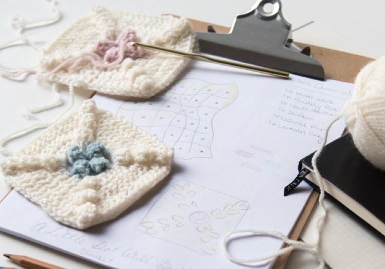Little Dots Will Do Ya Crochet Blanket