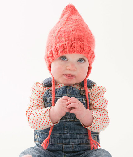 Cutie Pointed Hat Free Knitting Pattern LW5202