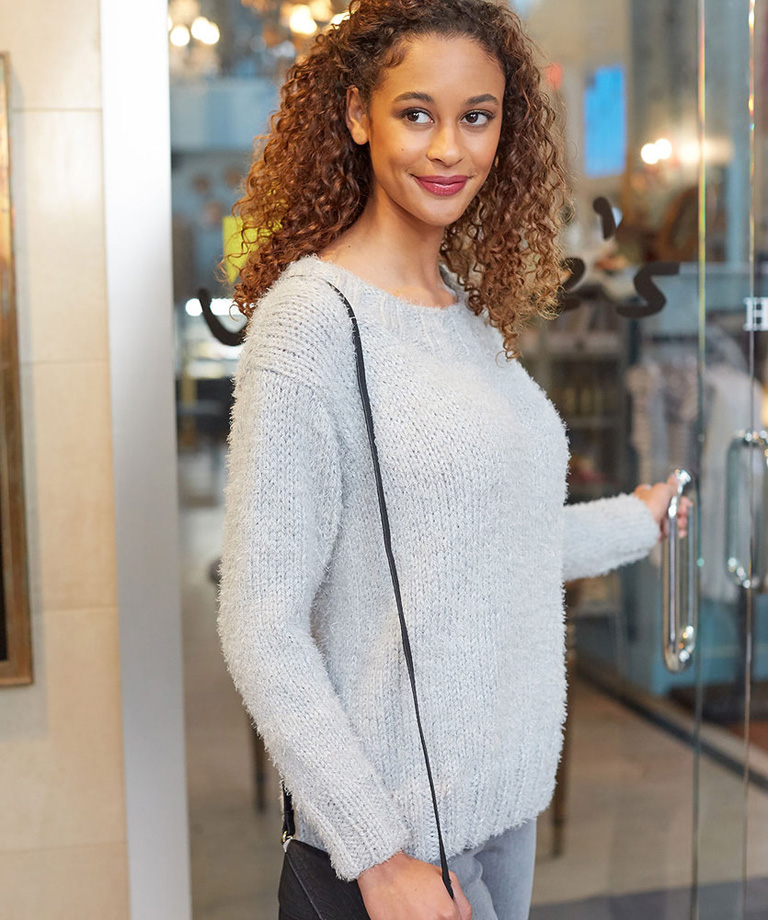 So Soft Comfy Sweater Free Knitting Pattern LW6002