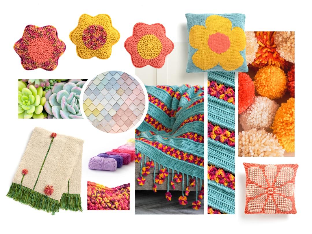 playful abundance picture collage (pillow, sweater, handbag)