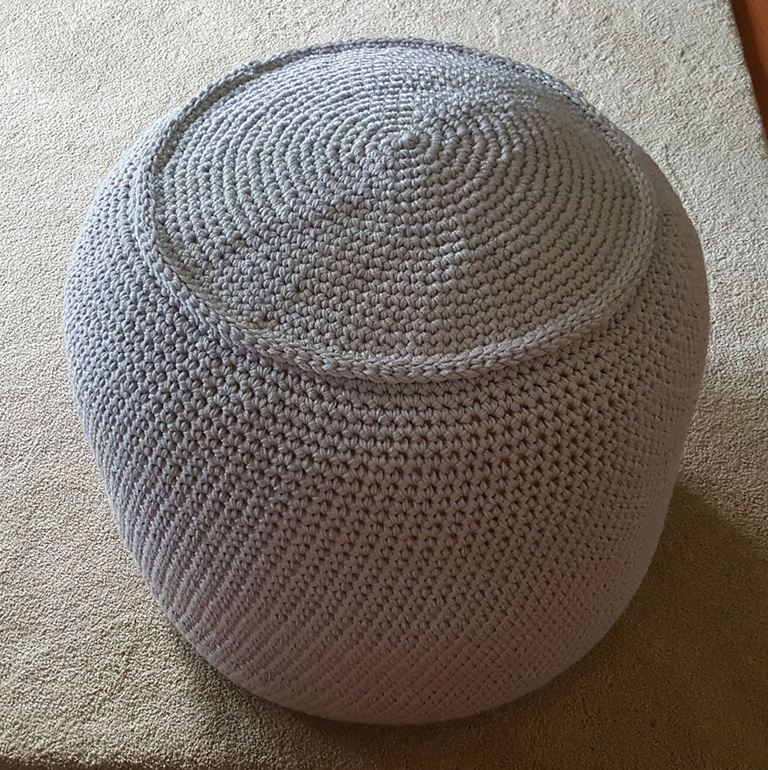 Admirable Cro Shayley Makes A Stylish Crochet Pouf Yarnspirations Pdpeps Interior Chair Design Pdpepsorg