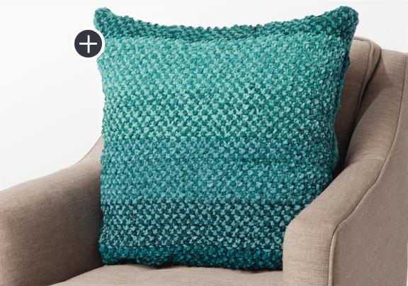Intermediate Linen Stitch Knit Pillow